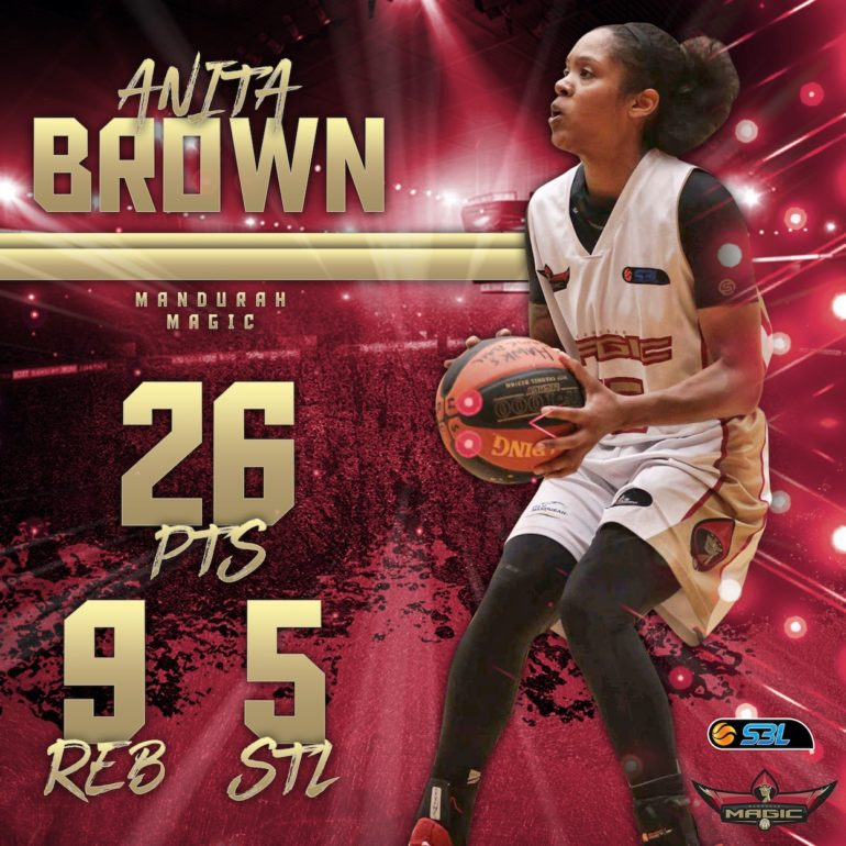 WSBL Player of the Week – Anita Brown (Mandurah Magic)