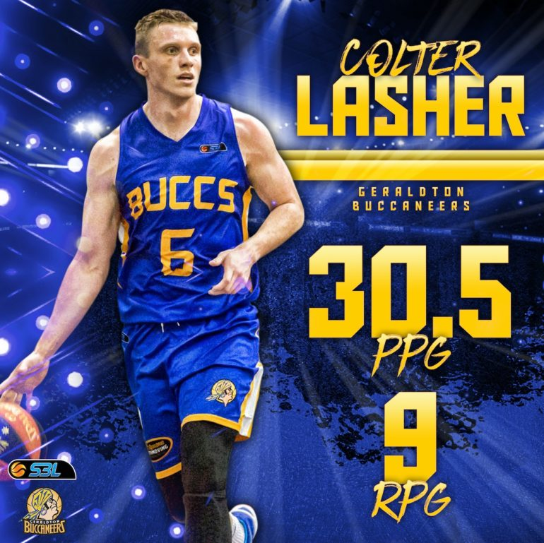 MSBL Player of the Week – Colter Lasher (Geraldton Buccs)